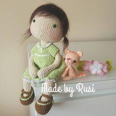 #crochet #crochetdoll #amigurumi #amigurumidoll #handmade #вязанаяигрушка #вязанаякукла #madebyrusi #rusidolls