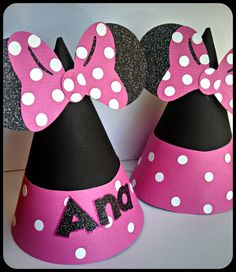 Minnie Mouse Party Hats by LilysPaperParty on Etsy
