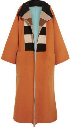 Max Mara - Vivetta Oversized Reversible Felted Wool Coat - Orange