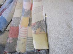 My Postage-Stamp Scrap Fabric Patchwork Quilt | so resourceful.  Wow, I wonder if this really works!