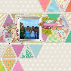 #papercraft #scrapbook #layout. 1 photo + triangles + clustering