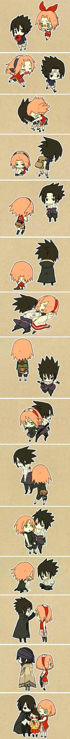 Sasuke and Sakura - Summary story of their love story <3 - Naruto