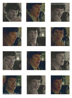 Omg Sherlock & his rubber face ♥ Benedict Cumberbatch no matter what!!