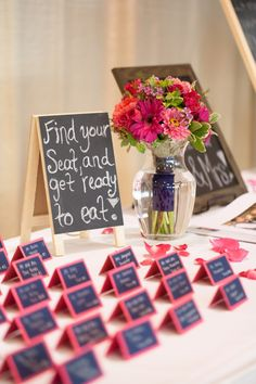 Cute idea for place cards! Scott & Amy's wedding from somethingturquose.com