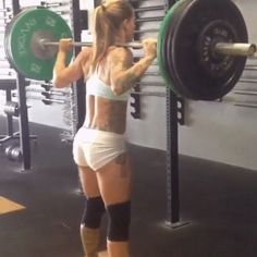 crossfitters:  Christmas Abbott: Saturday morning therapy session. Thank you squats for always helping my day be better.