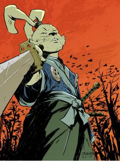 "xombiedirge: ""Submissions into the Help the Sakais Benefit Auction, organised in conjunction with CAPS, and included in ""The Sakai Project Book"". More info and donation options HERE. Usagi Yojimbo illustrations by NIDO, Sanford Greene, John McCrea &..."