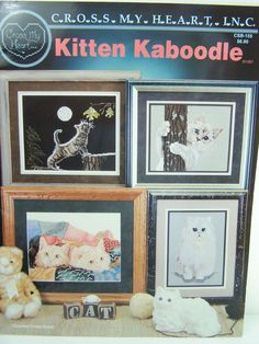 Cat Cross Stitch Pattern Book Cross Stitch Cats by WitsEndDesign