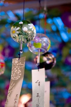 Furin wind bells –: Introduced from China by buddhist monks, these wind chimes… Scenery Wallpaper, Flower Wallpaper, Wallpaper Backgrounds, Iphone Wallpaper, Japanese Prints, Japanese Art, Japanese Wind Chimes, Blowin' In The Wind, Photographie Portrait Inspiration