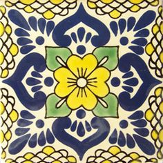 This Mexican Talavera tile hand made  with a  classic design and beautiful colors. Description from tilesandtiles.com. I searched for this on bing.com/images