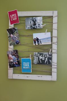 cute frame idea - Will surprise Emma with this when she gets home from school