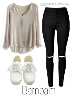 """Casual // Bambam"" by suga-infires ❤ liked on Polyvore featuring Chicwish"
