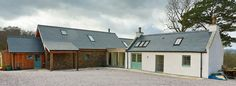 Larrys Cottage Old Cottage, Cottage Homes, Cottage Ideas, Cottage Exterior Colors, Larch Cladding, Masonry Construction, Cottage Extension, Gallery Wall Bedroom, Rural House