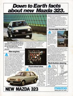 1981 BD Mazda 323 5 Door Hatchback Page 2 Aussie Original Magazine Advertisement Mazda Cars, Car Advertising, Motor Company, Posters, Magazine, Collection, Cars, Poster, Magazines