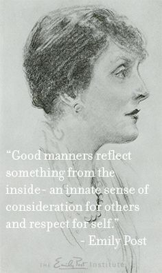 Good Manners, The Emily Post Institute