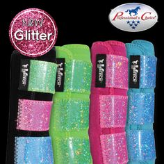 NEW GLITTER VenTECH Elite Sports Medicine Boots! Get them today from your local dealer. LOVE THESE!!!!