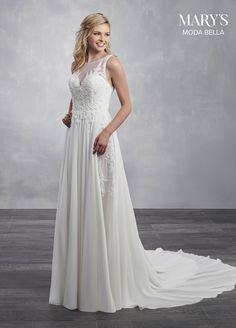 751cf2b5bd07 Romantic chiffon wedding dress with a sheer illusion yoke