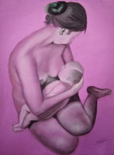 Maternidad. Pastel sobre cansón.