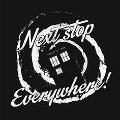 Zebra Tees: Next Stop Everywhere - Doctor Who