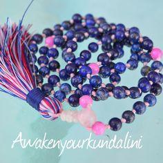 Beautiful AA Lapis Lazuli and Majenta Jade to fill you with Joy. #malas..... # mala # beads # necklace #yoga # yogi # yogini # namaste # healing #gemstones # holistic #yoga jewelry # knotted mala necklace # manifestation # detox # abundance # handmade malas #beaded necklace # gemstone malas # made in USA # minimalist # zodiac mala # zodiac gemstones # boho #boho style # bohomein # awaken your kundalini # etsy # hippy # hippie # men's fashion # women's fashion # yoga girls # meditation #…