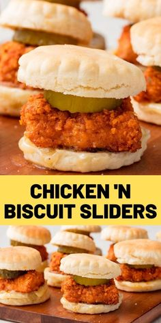 Chicken 'n Biscuit Sliders Move over, chicken and waffles. Chicken And Biscuits, Chicken And Waffles, Chicken Appetizers, Chicken Recipes, Appetizer Recipes, Slider Recipes, Burger Recipes, Easy Casserole Recipes, Casserole Dishes