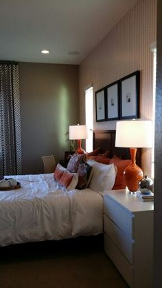 Master bedroom. Not exactly romantic, but both genders would be happy here!