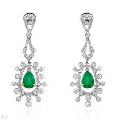 Lovely emerald #earrings.