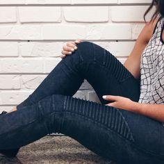 Midnight Moto Leggings #grey #moto #detail #legging #hunnistyle #fall #fashion