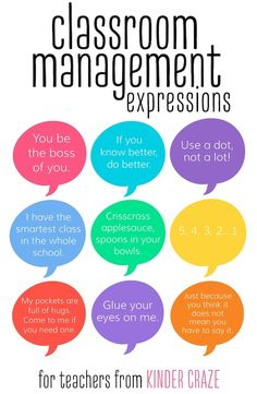 classroom management phrases from real teachers #kindercatchphrase