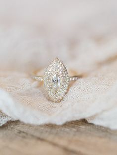 Vintage Marquise Cut Engagement Ring