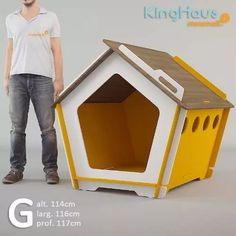 casinha de cachorro desmontável e ecológica kinghaus grande