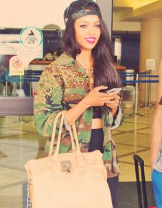 Black Leather Snapback. Studded Camo Jacket. Swag. Urban Fashion. Hip Hop Fashion. Urban Outfit. Dope. Swag Girl