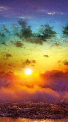 Beach Rainbow Art (via Samsung Galaxy S5 Wallpapers Android 4.4.2 ...