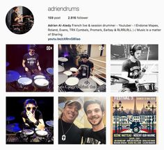 My Influencers: Adrien Al-Aiedy adriendrums - Arts / Performers / ...watch his amazing performances and bring him to the great success that Adrien deserves all! #art #artist #performer #musicteacher #drumer #drumerplayer #music #soundproducer #frenchstyle #adriendrums #adrieralaiedy #myinfluencermag #myinfluencerblog