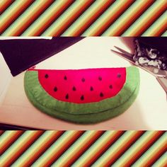 Watermelon pencilcase diy do it yourself idea cool original sewing sew different estuche sandía