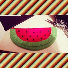 Watermelon pencilcase diy do it yourself idea cool original sewing sew different estuche sandía