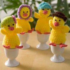 This chicks are so adorable you must make them for Easter. Have them sitting out for a cute table decoration. Each little chick has a different hat.
