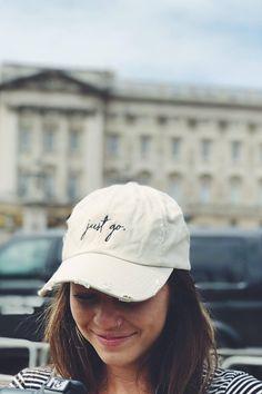 Just Go Hat  Dad Hat  Gift For Traveler  Baseball Hat