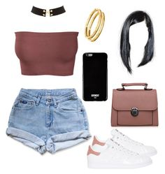 Untitled #32 by cryamilet19 on Polyvore featuring polyvore fashion style Levi's adidas Originals Charlotte Russe Bulgari Givenchy clothing
