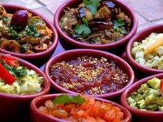 moroccan salads assorted Tajines and the Art of Moroccan Cooking