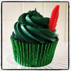 Simple but adorable Peter Pan cupcake