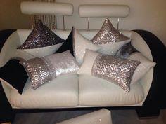 Handmade Glam glitter & sequin cushion