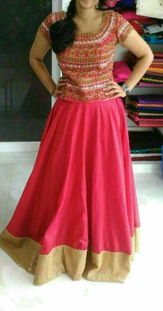 Long Gown Dress, Saree Dress, Dress Skirt, Lehnga Blouse, Anarkali Frock, Indian Dresses, Indian Outfits, Lehenga Top, Lehenga Choli Online