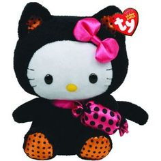 Ty Beanie Baby Hello Kitty With Cat Outfit And Candy: Amazon.co.uk: Toys & Games