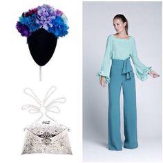 Preciosa propueta en azul y nuestro bolso plata en @telva para ocasiones especiales. Beautiful @telva fashion proposal for a special occasions with our silver  bag #weddinglook #partylook  #Padgram