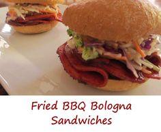 Fried BBQ Bologna Sandwiches