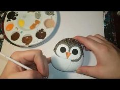 This is a ROCK PAINTING tutorial for beginners of a beach landscape. In this roc… This is a ROCK PAINTING tutorial for beginners of a beach landscape. In this rock painting tutorial I show you how you can learn to paint a beach landscape o… Painted Rocks Owls, Owl Rocks, Mandala Painted Rocks, Rock Painting Patterns, Rock Painting Ideas Easy, Rock Painting Designs, Pebble Painting, Pebble Art, Stone Painting