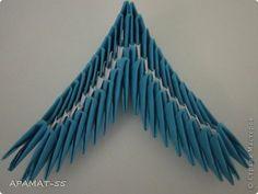 Мастер-класс, Поделка, изделие Оригами модульное: Дельфин Бумага. Фото 23