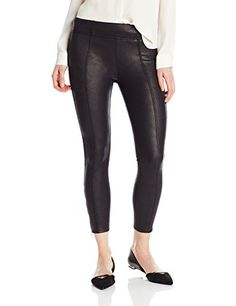 7 For All Mankind Women's Seamed Legging with Ankle Zips In Black Leather Like, Black Leather/Like, 31 * Check this awesome product by going to the link at the image. Leggings Fashion, Women's Leggings, Real Leather, Black Leather, Black Jeans, Ankle, Zip, Clothes For Women, Lady