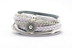 Gray White Bohemian Jewelry Gray White Silver Boho от cardioceras
