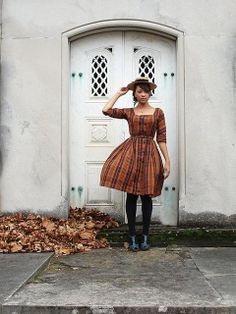 Street style in vintage PLAID~itude